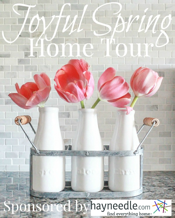 Joyful Spring Home Tour featured image w hayneedle graphic